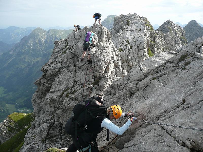 Klettersteig Hindelang : Hindelanger klettersteig wandern